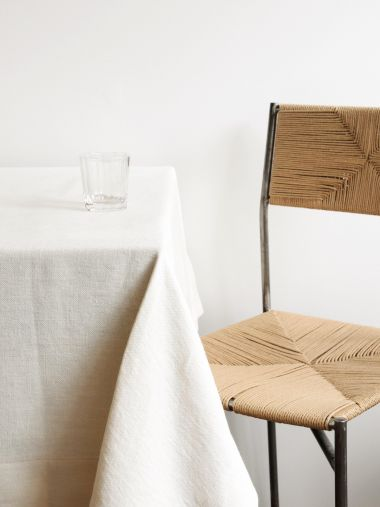 Square Tablecloth in 'Popcorn' Heavy Weight Linen_2