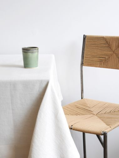 Rectangular Tablecloth in 'Popcorn' Heavy Weight Linen_2