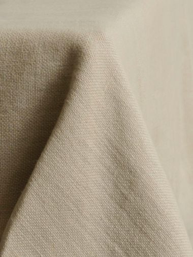 Square Tablecloth in 'Otter' Heavy Weight Linen_0