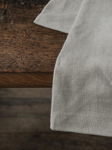 Square Tablecloth in 'Otter' Heavy Weight Linen_2