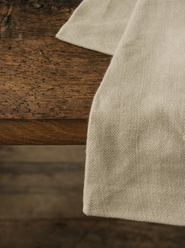 Square Tablecloth in 'Otter' Heavy Weight Linen_3