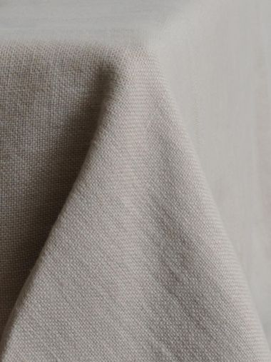 Square Tablecloth in 'Otter' Heavy Weight Linen_4