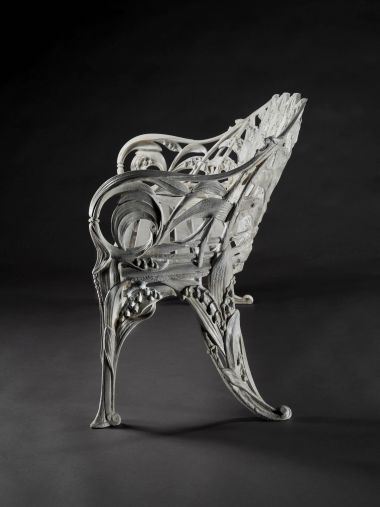 "Cast Iron ""Lilly of the Valley"" Garden Bench_1"
