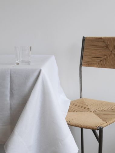 Square Tablecloth in 'Frost' Linen_1
