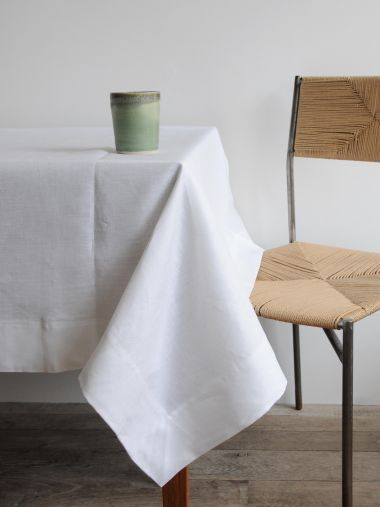 Rectangular Tablecloth in 'Frost' Linen_1