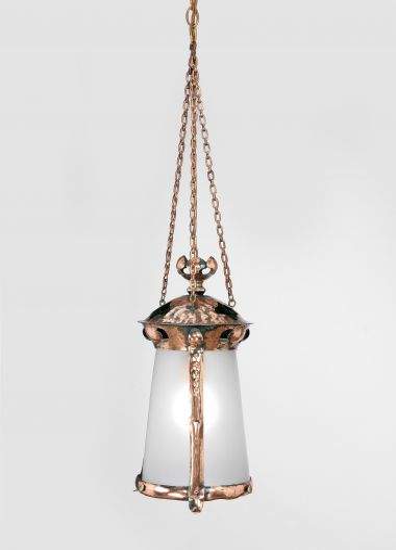Arts & Crafts Copper Hanging Lantern_0