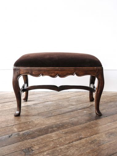 18th Century Spanish Walnut Stool_1