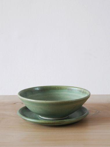 Ceramic Plate in Moss Green_4