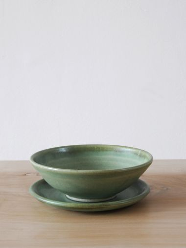 Ceramic Bowl in Moss Green_1