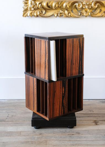 Macassar Ebony Revolving Bookcase_3
