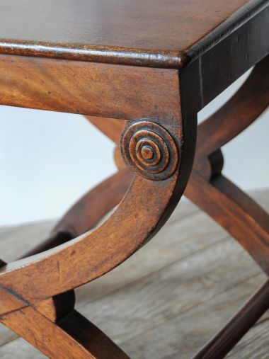 Pair of Regency Mahogany Hall Chairs_1
