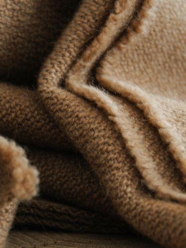 Large Blanket in Dark Camel_1