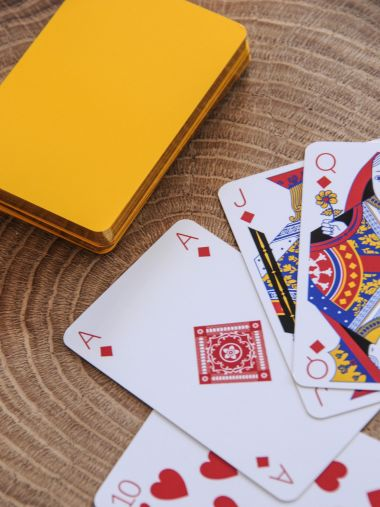 Playing Cards in Sunflower