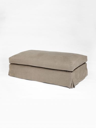 Upholstered Ottoman with Cushion by Rose Uniacke_0
