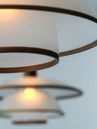 Pair of PH-4/4 Frosted Glass Pendant Lights_0