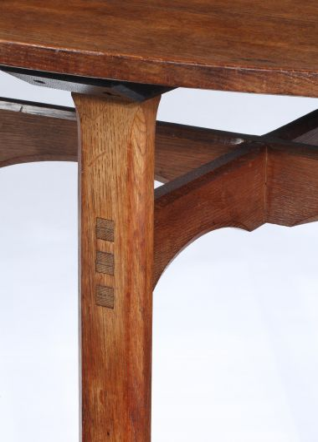 Arts & Crafts Oak Centre Table_1