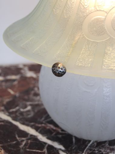 Etched Glass Table Lamp by Daum Nancy_1