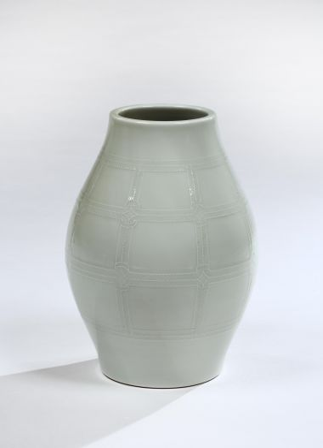 Celadon Porcelain Vase by Takahashi Dohachi_0