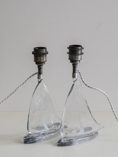 Pair of Glass Table Lamps_1
