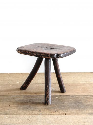Small Country Ash 'Bodger's' Stool_0