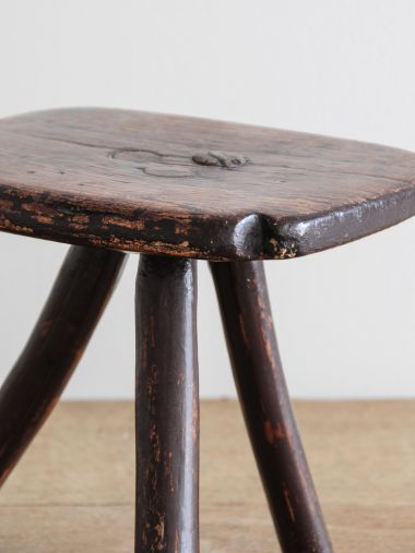 Small Country Ash 'Bodger's' Stool_1