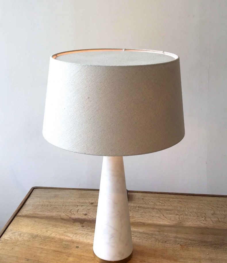 Handmade linen shade for lamps by designer Rose Uniacke