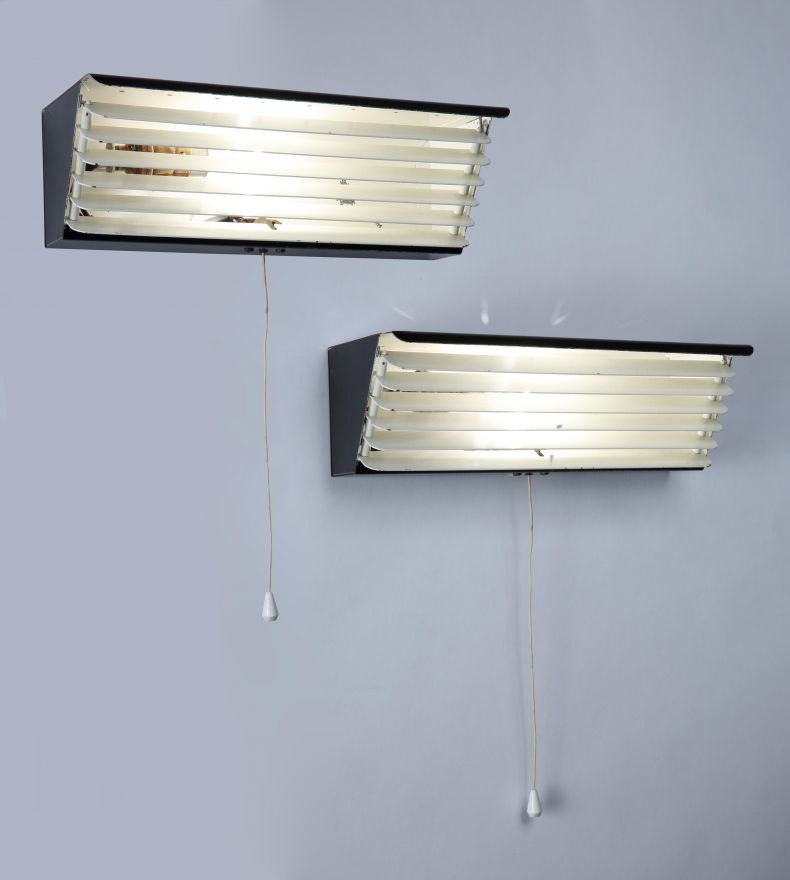 Black Painted Strung Aluminium Wall Lights