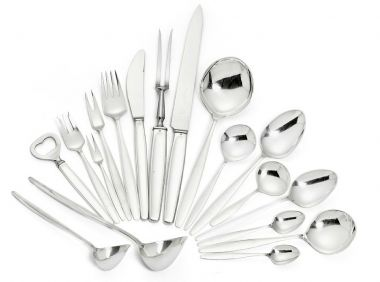 """Set of Sterling Silver """"Cypress"""" Cutlery_0"""