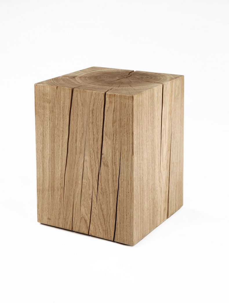 Natural Solid Oak Cube Table by Rose Uniacke_0
