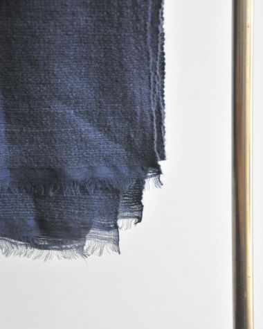 Luxury Dark Blue Cashmere Blanket