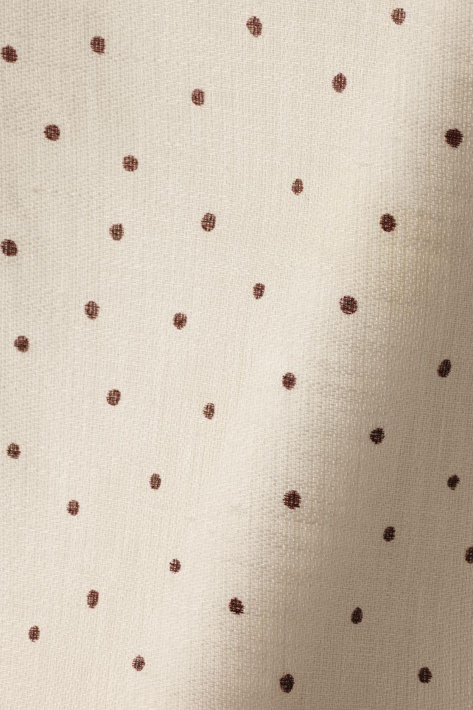 Sheer Linen in Burgundy Spot on Chalk_0