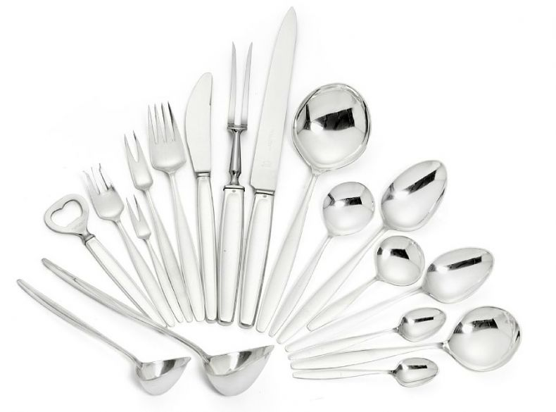 "Set of Sterling Silver ""Cypress"" Cutlery_0"