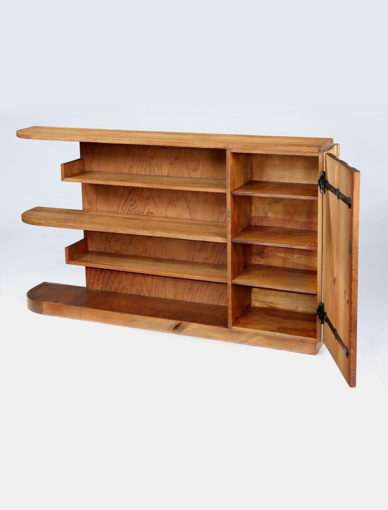 Pine 'Lovö' Bookshelf by Axel Einar Hjorth_0