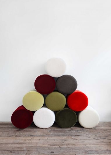 Small Round Ottoman by Rose Uniacke_0