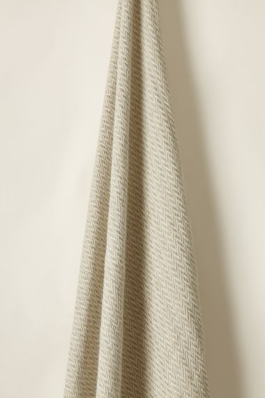 Textured Linen fabric in Curlew by Designer Rose Uniacke