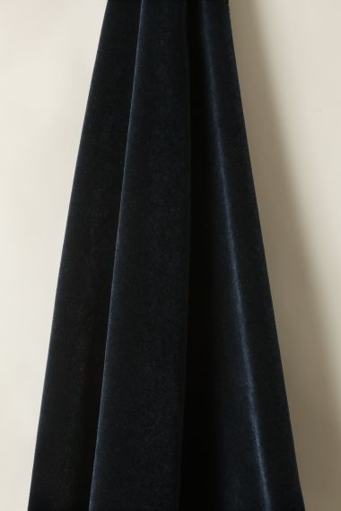 Mohair Velvet in Navy_1