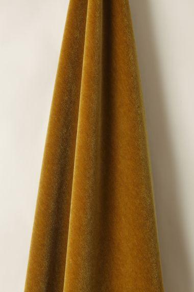 Mohair Velvet in Gold_1