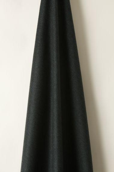 Wool in Herringbone Black/Blue_1