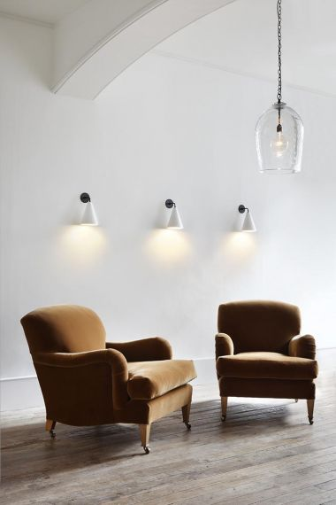 Plaster Cone Wall Light by Rose Uniacke_4
