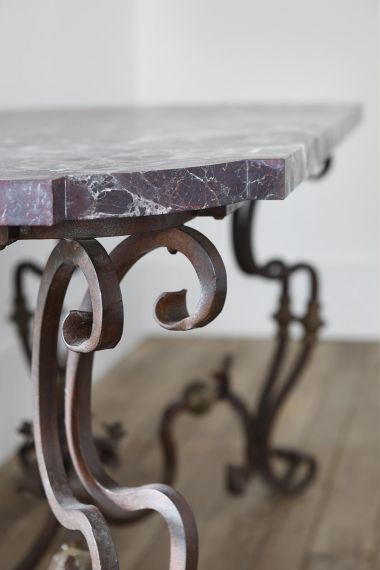 Pair of Spanish 19th Century Wrought Iron Console Tables_1