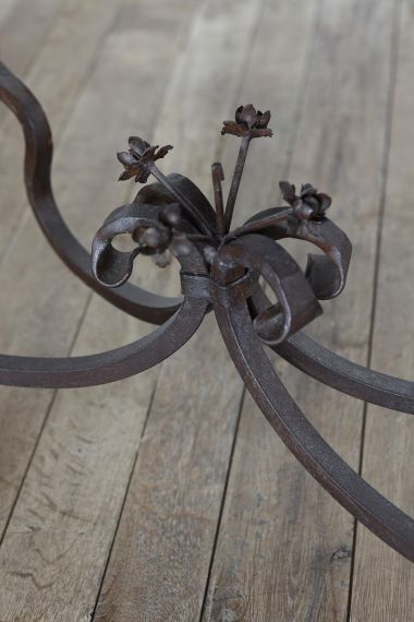 Pair of Spanish 19th Century Wrought Iron Console Tables_4