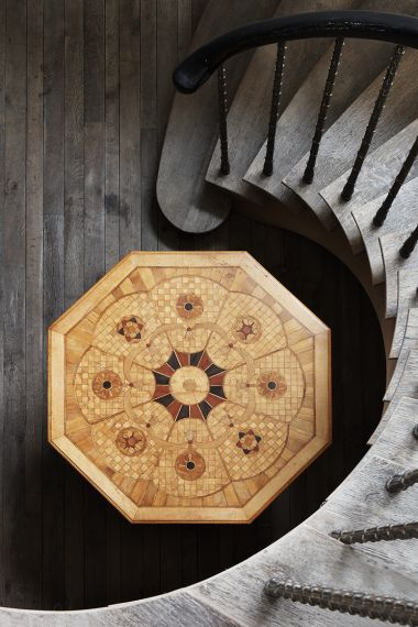 Marquetry Inlaid Centre Table_1