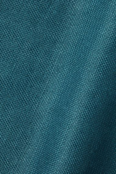 Heavy Weight Linen in Teal_1