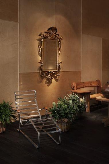 Rare Slatted Lounge Chair & Sling Base_6