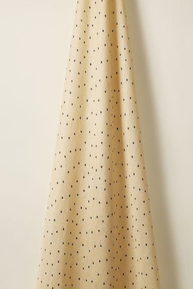 Sheer Linen in Teal Spot on Honey_0