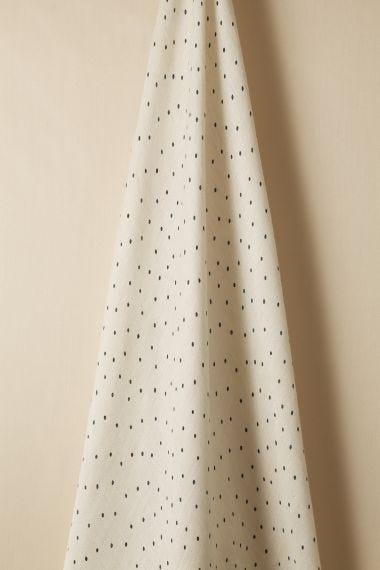 Sheer Linen in Teal spot on Chalk by Rose Uniacke_1