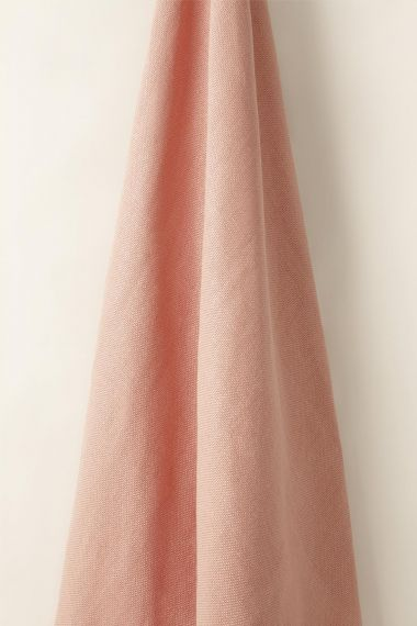 Heavy Weight Linen in Coral_1