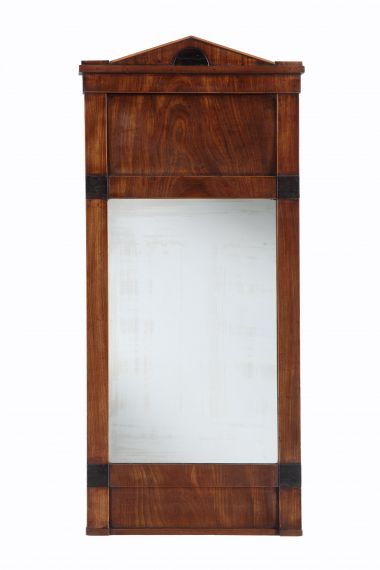 19th Century Mahogany Hall Mirror_0