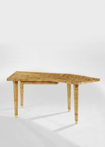 Limited Edition Veneered Writing Desk in Burr Poplar_1