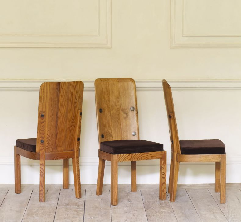Set of Four High Back 'Lovö' Chairs by Axel Einar Hjorth_0